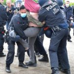 Police clashed with violent protesters over the weekend in Germany - twitter/@TRTDeutsch