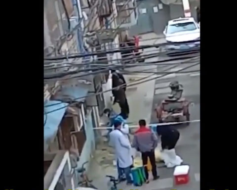 They are welding the door of the compound shut. Photo - Youtube