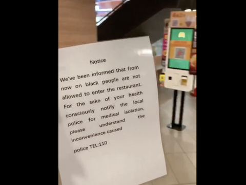This letter was posted at a McDonald's. Photo: Twitter